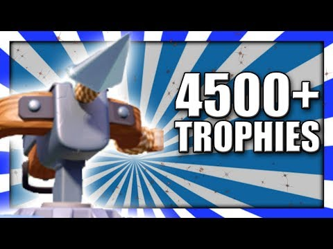 Trophy Pushing With THE XBOW 4500+ Trophies | Clash Royale Xbow Siege