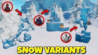 NEW SNOW SKINS - WINTER VARIANTS EN FORTNITE