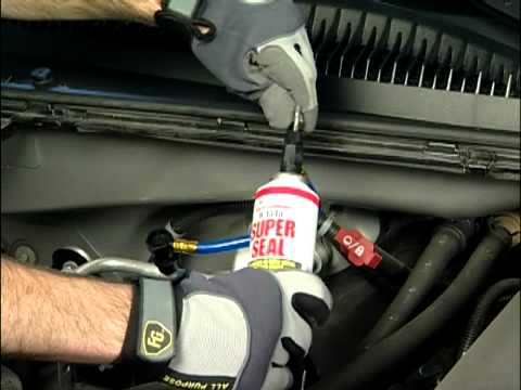 How to Repair a Vehicle A/C Leak with R134a Super Seal ...