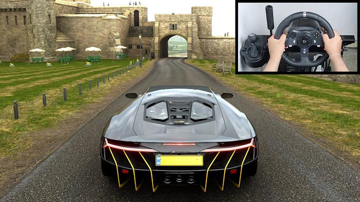 Permanent Link to Forza Horizon 4 Lamborghini Centenario (Steering Wheel + Paddle Shifter) Gameplay
