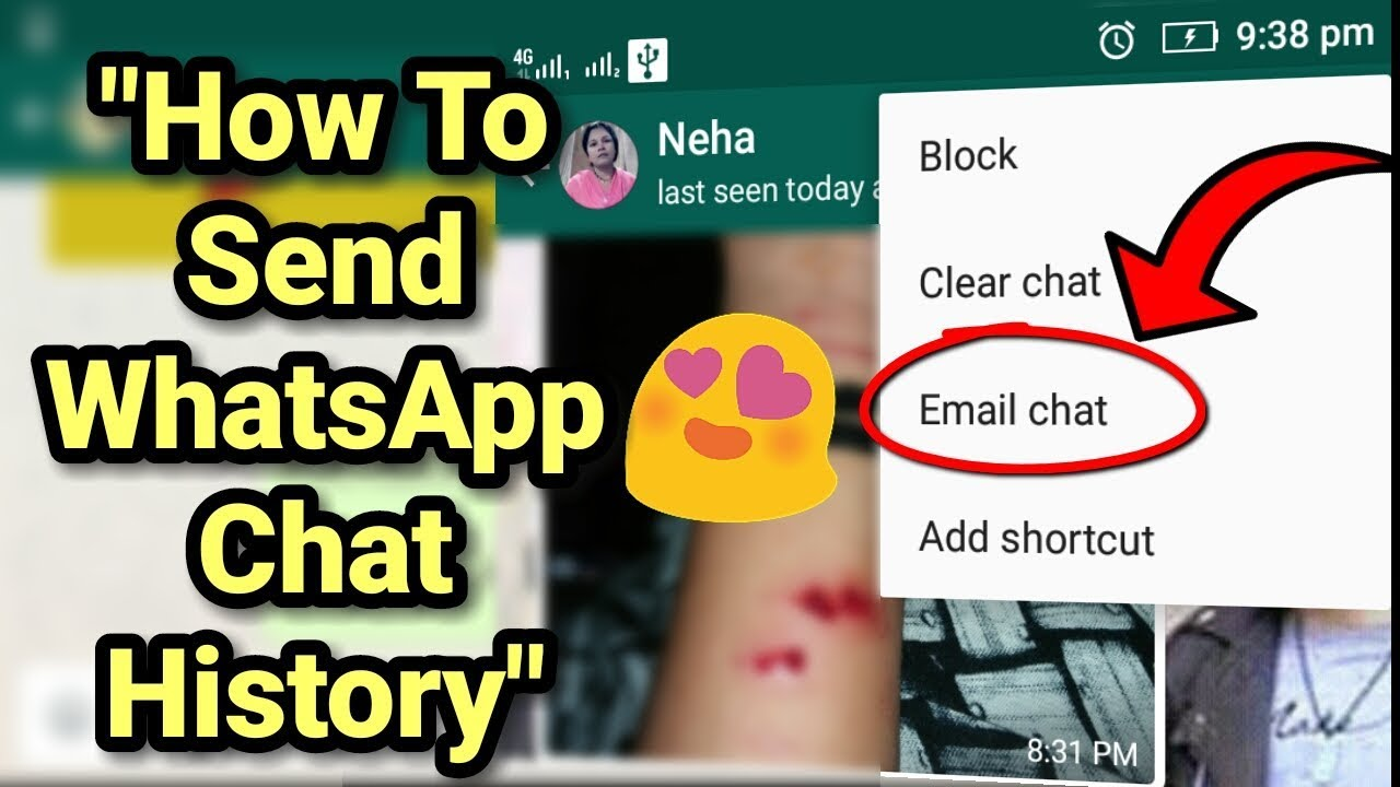 How To Email/Send/ Move Whatsapp Chat History Conversation ...