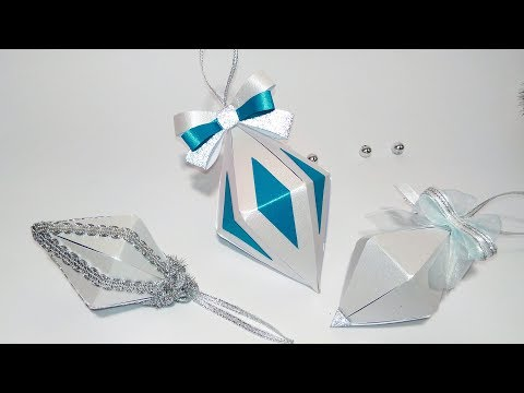 Super EASY Christmas tree ornaments from paper. Ideas for Christmas decorations #1