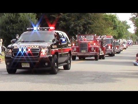 Mendham 2016 Labor Day Parade Emergency Vehicles 9-5-16