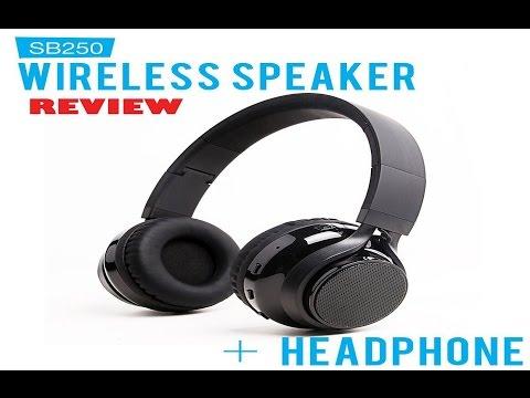 SoundBot SB250 Stereo Bluetooth Wireless Speaker Headphone Review