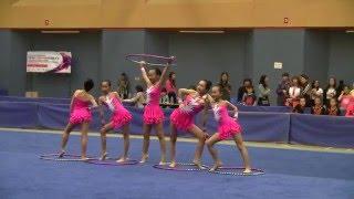 2016年全港學界藝術體操比賽  小學組 集體5人圈 觀塘官