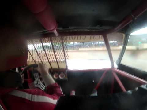 Rice Lake Speedway 6-6-15 Pure Stock Feature Win #93 On Board Part 2