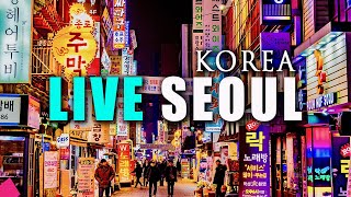 Live Seoul Night, South Korea …