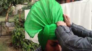 HOW TO TIE BHANGRA TURBAN: RIFAC INDIA (Rhythms International Folk Art Club)