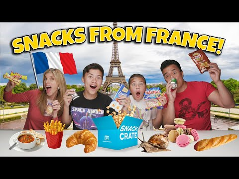 AMERICANS TRY SNACK FROM FRANCE!!! Snack Crate Taste Test Challenge! Japanese Snacks In France?