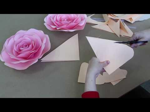 Мастер-класс по созданию розы из бумаги от Алины Высторобской. Студия