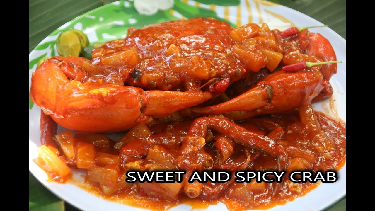 Sweet And Spicy Crab Recipe Filipino Style I Quick And Easy Youtube