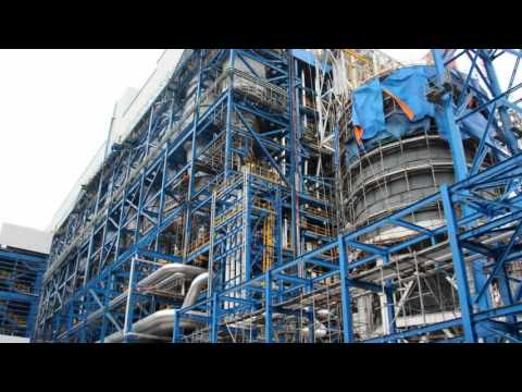 250MW CFB Boiler construction overview - YouTube