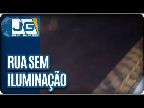 Rua sem iluminação em Ribeirão Pires