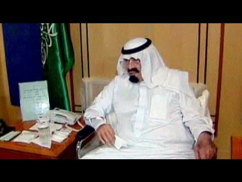 Saudi's King on TV