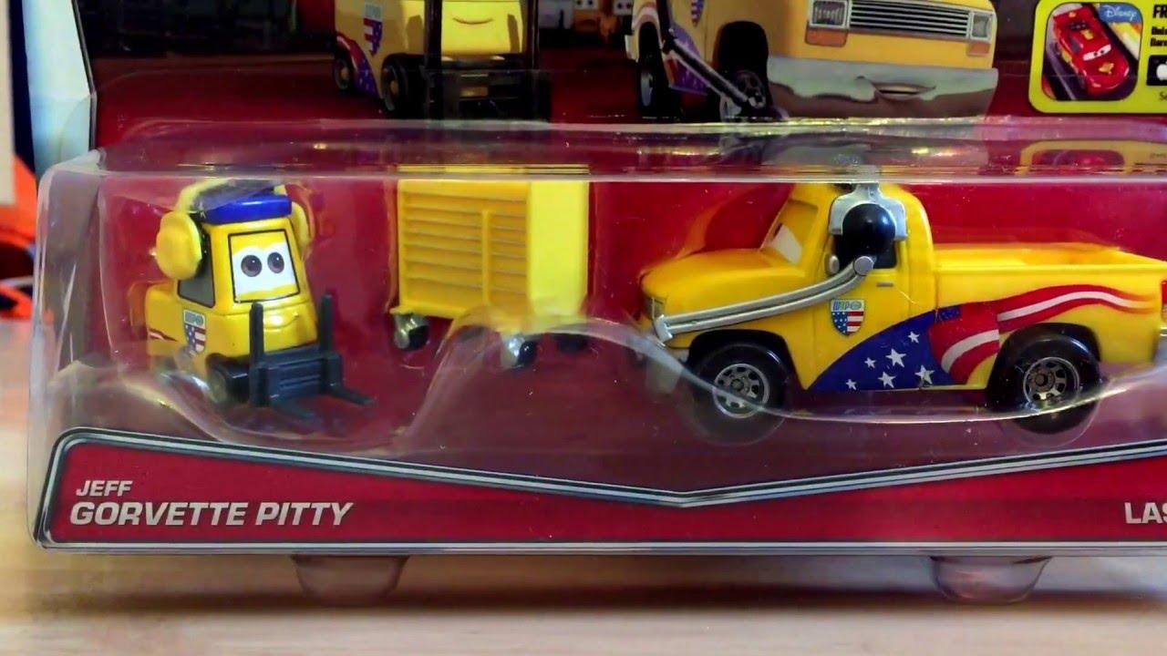 Disney Cars 2 Jeff Gorvette Pitty And John Lassetire Youtube
