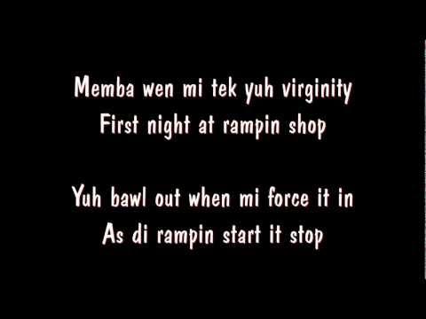 Vybz Kartel Feat Indu - Virginity (Beach Front Riddim) lyrics on screen