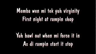 Vybz Kartel Feat Indu - Virginity (Beach Front Riddim) lyrics on screen