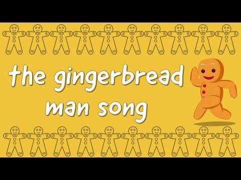 Gingerbread Man Song - 4K - Run, Run, I Am The Gingerbread Man