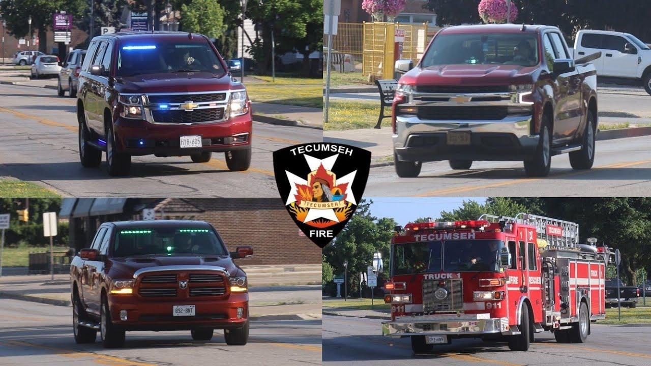 Responding To Gas Leak - Tecumseh Fire, POVs, E-1, T-1, C-1 - Volunteer Fire  Department