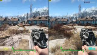 Fallout 4 PC Performance 1080p Ultra Vs Low Graphics Benchmarks