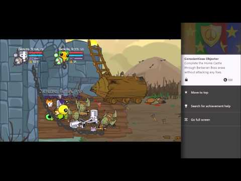 "Castle Crashers Remastered ""Conscientious Objector"" Achivement 1080p60fps"