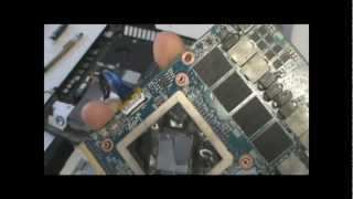 aMD Radeon HD 7970M CrossFireX Install in Alienware M18X by Eurocom