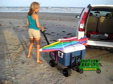 Beach Cart Picnic Cart Collapsible Cart  YouTube