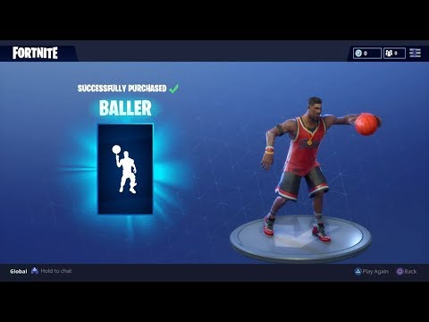 Fortnite New Emote,Baller - Basketball Emote
