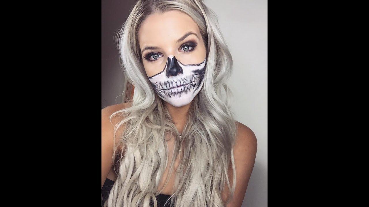 Beginner Halloween Makeup Easy.Easy Beginner Halloween Makeup Skull Mask