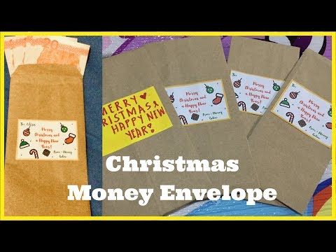 HOW TO MAKE (CHRISTMAS) MONEY ENVELOPE FROM RECYCLED PAPER BAGS
