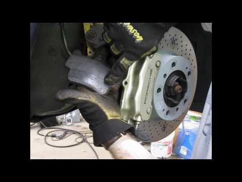 DIY - changing front brakes on a water-cooled Porsche - part 2