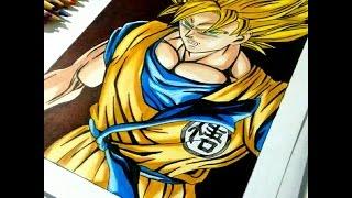 Speed Drawing Goku SSj - Dragon Ball Z