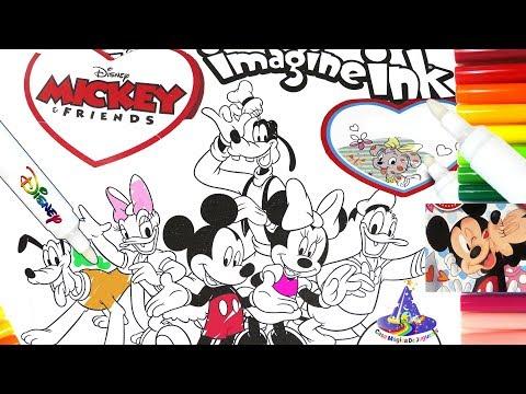 Rotulador Mágico de Mickey Mouse y Amigos del Dia del Amor y la Amistad de ImagineInk en Español