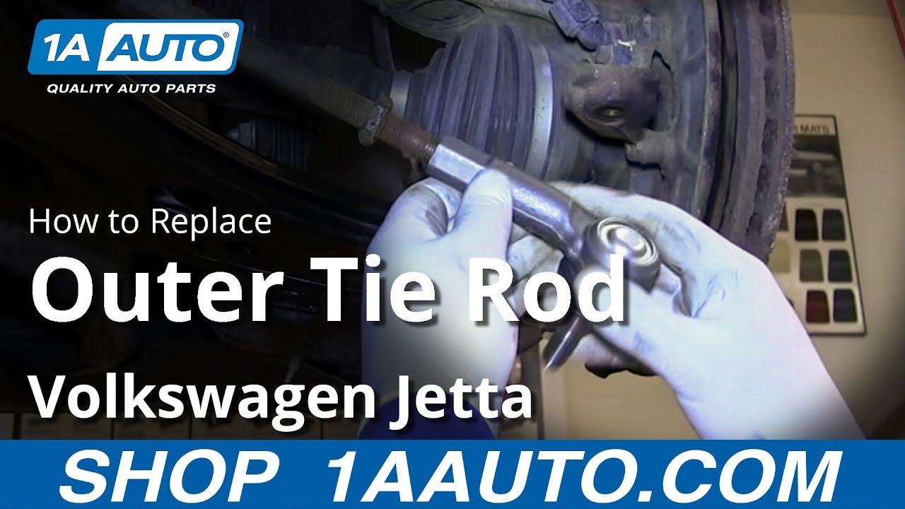 how to install replace outer tie rod 1999 06 vw volkswagen 2003 vw jetta parts diagram #2