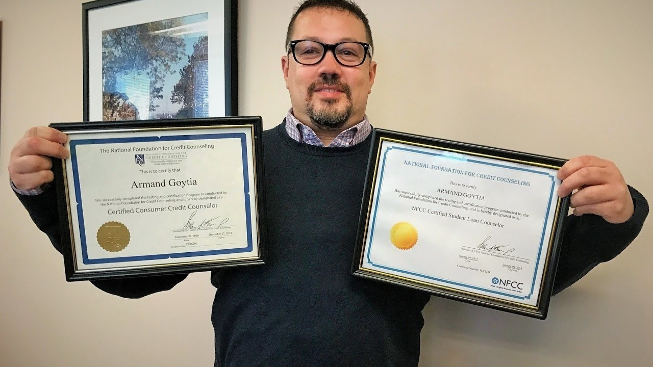 Armand Goytia Receives Dual Counseling Certifications Youtube