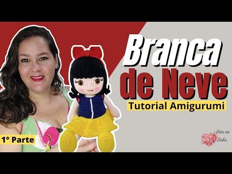 Boneca Princesa Branca De Neve Amigurumi - R$ 150,00 em Mercado Livre | 360x480