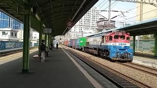 구포역 화물열차 통과