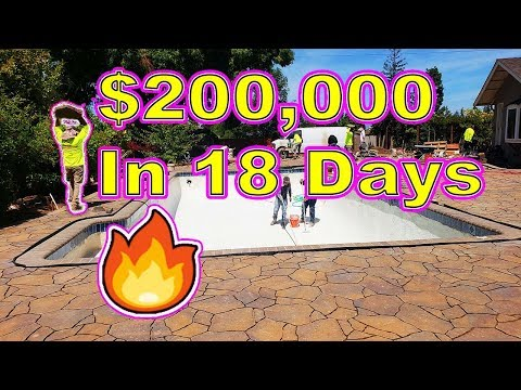 Start To Finish Time Lapse Of $200,000 Landscaping Job In 18 days