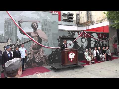 Warsaw Uprising Memorial Opening NYC