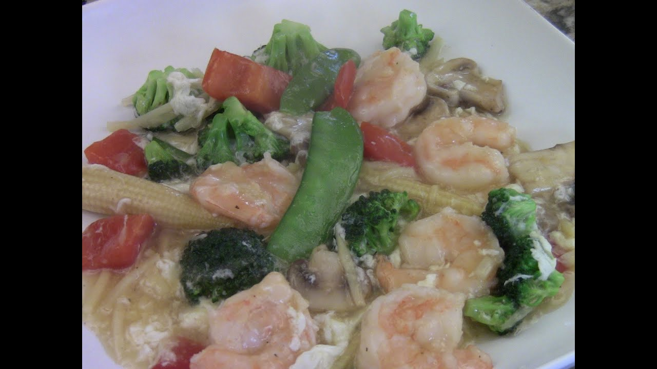 Shrimp with mix vegetables in white sauce youtube shrimp with mix vegetables in white sauce forumfinder Images
