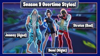 Fortnite New Season 9 Overtime Rewards (Viewable in-game) - Demi, Bunker Jonesy, Stratus