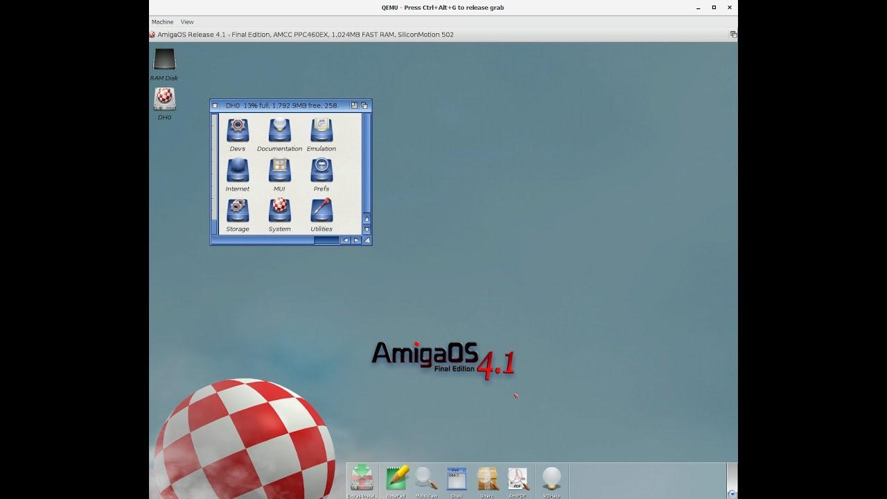 Amiga OS4.1Final Edition running on Raspberry Pi 4 4GB ...