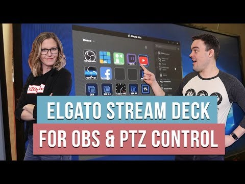 PTZ Camera Control w/ the Elgato Stream Deck