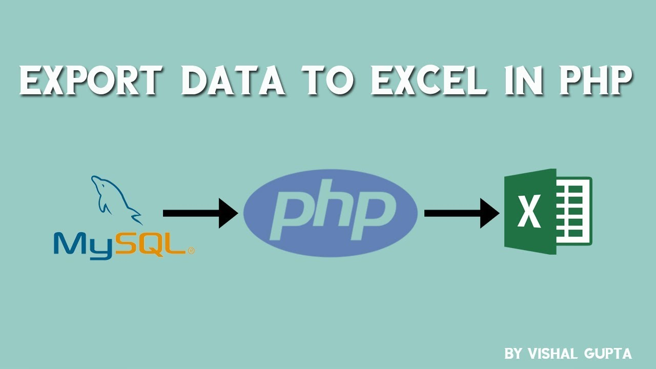 Export data to excel in PHP
