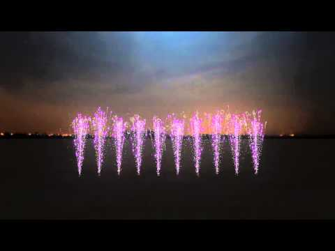 Virtual Fireworks to song Summertime