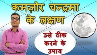 कमज़ोर चंद्र के लक्षण और ठीक करने के उपाय (Weak Moon & Its Remedies) | Vedic Astrology | Hindi