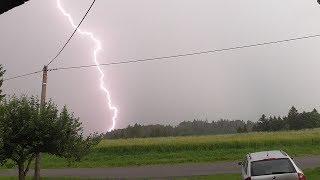 Silná bouřka 28.6.2017