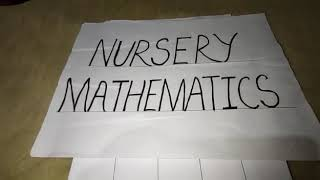 Nursery mathematics part 7