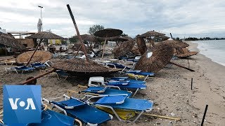 Six Tourists Killed in Storms in Greece