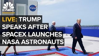 WATCH LIVE: President Trump speaks after SpaceX historic manned NASA flight - 5/30/2020